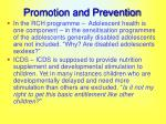 promotion and prevention32