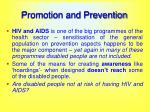 promotion and prevention33