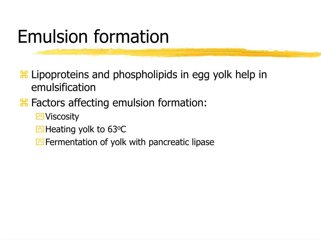 Emulsion formation