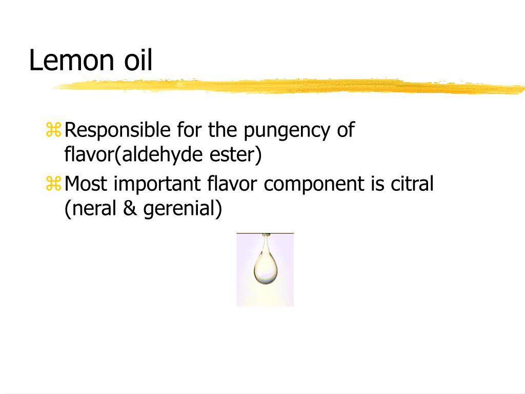 Responsible for the pungency of flavor(aldehyde ester)