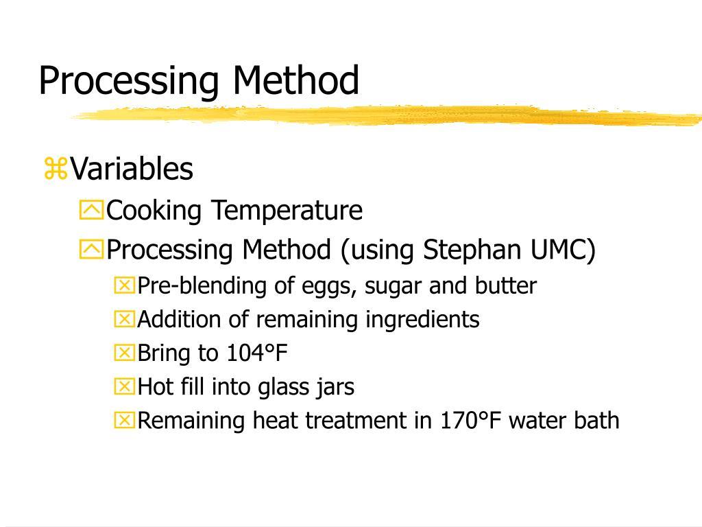 Processing Method