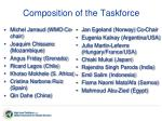 composition of the taskforce