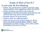 scope of work of the hlt