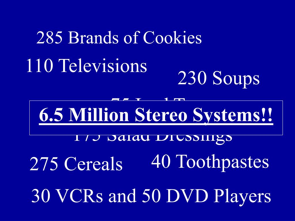 285 Brands of Cookies