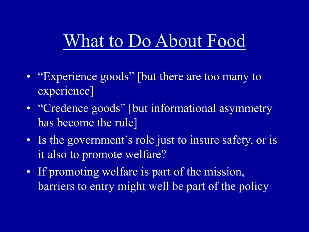 What to Do About Food