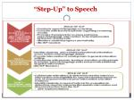 step up to speech