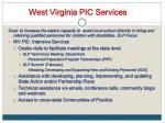 west virginia pic services