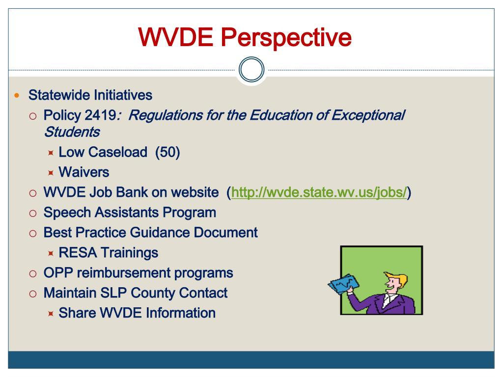 wvde wv pathology speech schools language update state yellow ppt powerpoint presentation
