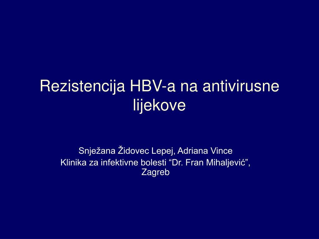 rezistencija hbv a na antivirusne lijekove l.