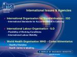 international issues agencies