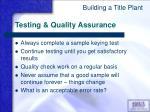 testing quality assurance