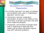 assumptions of community organization7