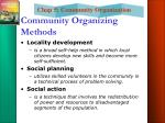 community organizing methods