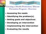 creating a health promotion disease prevention program overview