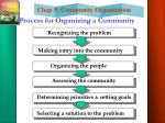 process for organizing a community