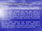 definicija aglomeracije