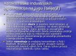 karakteristike industrijskih aglomeracija na jugu italije 2