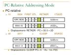 pc relative addressing mode