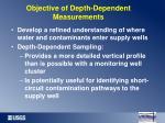 objective of depth dependent measurements