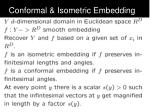 conformal isometric embedding