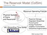 the reservoir model colsim hamlet et al 1999