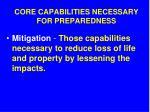core capabilities necessary for preparedness10