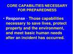 core capabilities necessary for preparedness11
