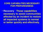 core capabilities necessary for preparedness12