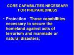 core capabilities necessary for preparedness9