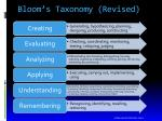 bloom s taxonomy revised