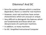 dilemma and sic