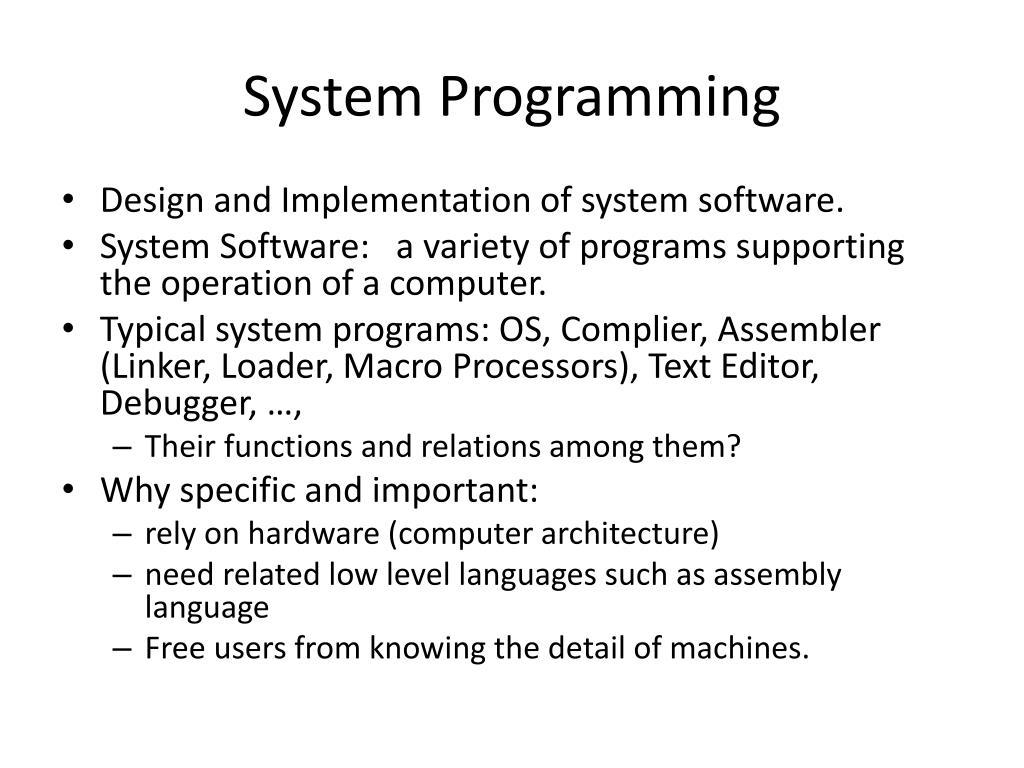 system programming l.