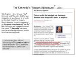 ted kennedy s airport adventure 2004