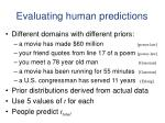 evaluating human predictions