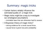 summary magic tricks