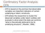 confimatory factor analysis cfa