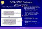 gps gprs distance measurement