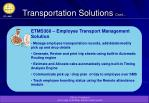 transportation solutions cont