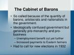 the cabinet of barons