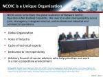 ncoic is a unique organization