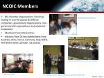 ncoic members