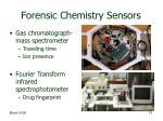 forensic chemistry sensors