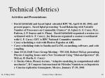 technical metrics5