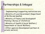 partnerships linkages