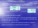 mason s rule