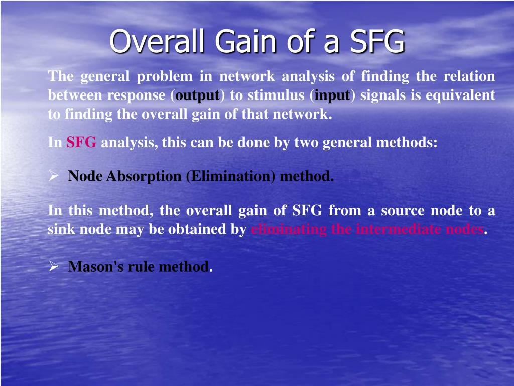 Overall Gain of a SFG