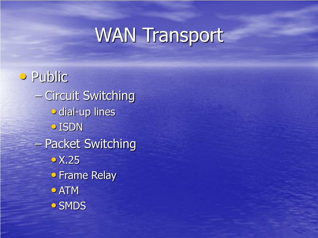 WAN Transport
