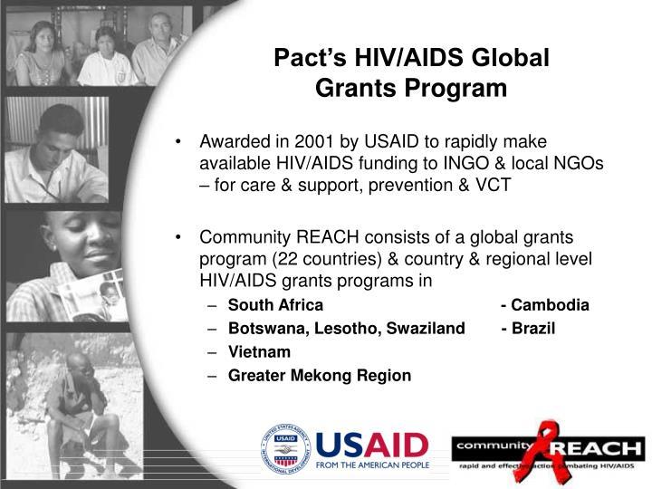 Pact s hiv aids global grants program