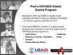 pact s hiv aids global grants program