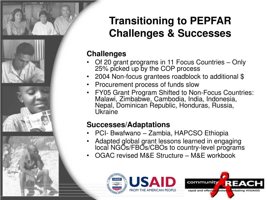 Transitioning to PEPFAR